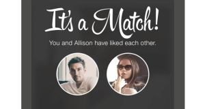A Tinder smartphone app. Match Group, the parent of Tinder, has recently been IAC's fastest-growing division
