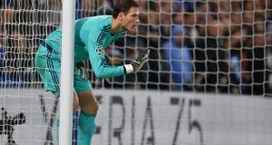 "Chelsea's Bosnian goalkeeper Asmir Begovic: ""Ireland is a great team and it certainly won't be easy for us."" Photograph: Glyn Kirk/AFP/Getty Images"