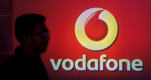 Vodafone says revenue rose in the first half of the year as the group's investment in 4G paid off. Photograph: Shailesh Andrade/Reuters
