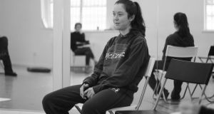 Amy McAllister as Kes during rehearsals for Scorch