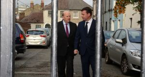 Minister for Finance Michael Noonan and Minister for the Environment Alan Kelly unveiled a housing package on Tuesday after months of discussion between the two departments. Photograph: Cyril Byrne/The Irish Times