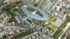 Aerial view of the site for the new National Children's Hospital at the St James's Hospital campus in Dublin