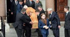 The funeral of Joe Ainsworth, former deputy commissioner of An Garda Síochána, at Mount Argus, Dublin. Photograph: Eric Luke/The Irish Times