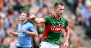 Cillian O'Connor could miss Mayo's 2016 Allianz Football League campaign after undergoing knee surgery. Photograph:  James Crombie/Inpho