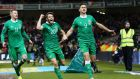 Shane Long has been ruled out of the first leg of the Euro 2016 play-off away to Bosnia. Photograph:  Cathal Noonan/Inpho