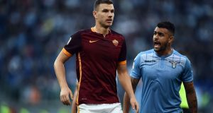 Roma's Bosnia-Herzegovina international Edin Dzeko spent his early years in war-torn Sarajevo. Photograph: AFP/Getty Images