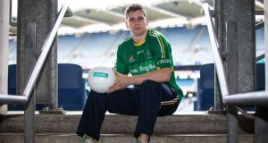 "Lee Keegan at Croke Park: ""What we do on the pitch during the year is totally separate to what we are doing here for Ireland."" Photograph: Gary Carr/Inpho"