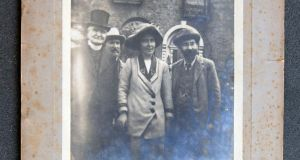 Father Eugene Sheehy, Hanna Sheehy-Skeffington and Francis Sheehy August 1912, after her releas from Mountjoy Jail after hunger strike