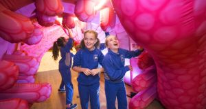 The  Alimentary Adventure inflatable exhibit  explaining the digestive system in Cork City Hall. Photograph:  Michael MacSweeney/Provision
