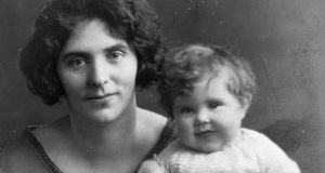 Mother and baby: Máire Mhac an tSaoi as a baby with her mother, Mairéad de Brún, in 1923-4. Photograph: family collection