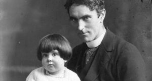 Uncle Paddy: Máire Mhac an tSaoi as a toddler with Pádraig de Brún, her mother's brother. Photograph: family collection