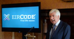 Minister for Communications Alex White at the official launch of Eircode in July. Photograph: Dara Mac Dónaill/The Irish Times