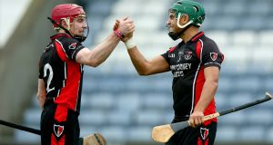 Keith Rossiter and Paul Roche of Oulart The Ballagh have a Leinster final to prepare for. Photograph: Donall Farmer/Inpho