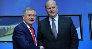 Ministers Brendan Howlin and Michael Noonan. File photograph: Alan Betson