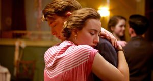 Domhnall Gleeson and Saoirse Ronan in 'Brooklyn': Ronan makes Eilis so alive to every moment that we understand completely how she gets caught up in them