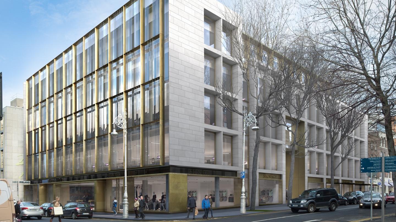 Five storey modern block for dawson street - Irish times office dublin ...