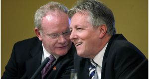 "Deputy First Minister Martin McGuinness and First Minister Peter Robinson have made ""great progress"". Photograph: Brenda Fitzsimons/The Irish Times"