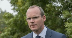 Minister for Defence Simon Coveney attended a meeting of EU defence ministers in Brussels on Tuesday. Photograph: Brenda Fitzsimons/The Irish Times