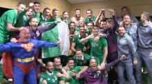 Heroes one and all: Irish players celebrate Euro qualification