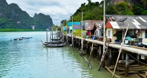 A fishing village in Phuket, Thailand