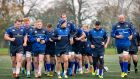 The Leinster squad during training on Tuesday. Photo: Morgan Treacy/Inpho