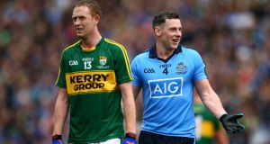 "Kerry's Colm Cooper with Philly McMahon: ""The biggest point is that he had a fantastic season,"" said Cooper."
