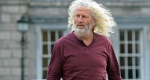 "Independent TD Mick Wallace: ""It's a good weekend for them [arms dealers] because it looks like there's going to be even more arms used."" Photograph: Eric Luke/The Irish Times"