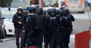 French police participate in a raid in Saint Denis, near Paris on November 18th. Photograph: EPA