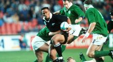 Jonah Lomu in action against Ireland during the 1995 World Cup in South Africa. Photo: Billy Stickland/Inpho