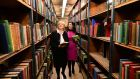 Minister for Heritage Heather Humphreys and National Library director Sandra Collins: refurbishment will begin in late 2016 or early 2017. Photograph: Dara Mac Dónaill