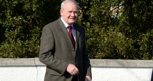Deputy First Minister of Northern Ireland Martin McGuinness, of Sinn Féin. File photograph: Dara Mac Dónaill/The Irish Times