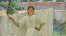 Detail from Sir John Lavery's The Maid was in the Garden Hanging out the Clothes is estimated at £300,000-£500,000