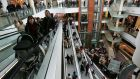 Dundrum Town Centre: godawful-busy.  Photograph: Frank Miller