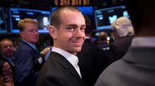 Shares of Square, the mobile payments company co-founded and still run by Twitter chief executive Jack Dorsey, rose yesterday. Photograph: Scott Eells/Bloomberg