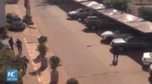 Tourist films video from inside Mali hostage situation