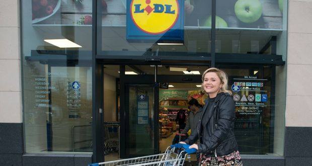 Swap shop: A Lidl shopper and an M&S fan switch stores for a