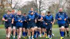 The Leinster squad during training this week. Photograph: Morgan Treacy/Inpho