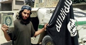 Paris mastermind: 28-year-old Abdelhamid Abaaoud as he appears in Islamic State's English-language magazine, Dabiq
