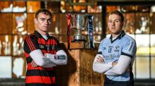 Ballygunner's Pauric Mahony and Shane Dowling of Na Piarsaigh whose sides meet in the Munster club hurling final. Photograph:  Stephen McCarthy/Sportsfile