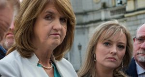 "Labour Senator Mairia Cahill with Labour leader Joan Burton. A party sources said ""we believe we will be back in government"". Photograph: Brenda Fitzsimons/The Irish Times"