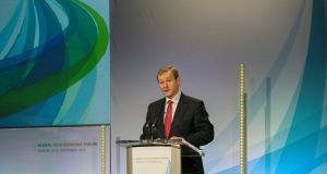"Taoiseach Enda Kenny:  said Ireland was ""in a very different place"" to where it was when the first  forum met in 2009. Photograph: Brenda Fitzsimons/The Irish Times"