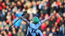 Shane Dowling of Na Piarsaigh celebrates at the final whistle Photograph: Cathal Noonan/Inpho