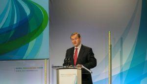 Taoiseach Enda Kenny during the Global Irish Economic Forum at Dublin Castle. Photograph: Brenda Fitzsimons/The Irish Times