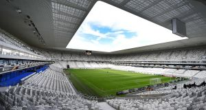 Bordeaux:  The Nouveau Stade de Bordeaux, which replaces one of the 1998 World Cup's most distinctive venues, opened in May. It has been used regularly this season for Ligue One club games and other events. It holds 42,115 people and cost €183 million to construct. The design, by the same firm that was behind Bayern Munich's home and the Bird's Nest stadium in Beijing, incorporates about 900 stanchions intended to evoke the region's forest landscape. It will host four group games and a quarter-final.