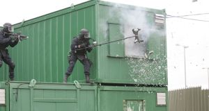 Army Ranger Wing members  display skills and equipment, including hostage extraction, at the Curragh Camp. File photograph: Alan Betson/The Irish Times