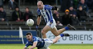 Stephen Hiney of Ballyboden St Enda's in action against St Loman's of Westmeath in last Sunday's provincial football semi-final. Hiney is one of several dual players on team. Photograph: Ryan Byrne/Inpho