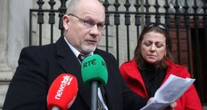 Kevin and Mary Conroy from Portlaoise outside  the High Court, Dublin  in 2013.  Photograph: Gareth Chaney/Collins