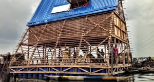 The floating school in Lagos, Nigeria