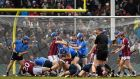 Players from both teams get involved in a scuffle during the AIG Fenway Hurling Classic, Dublin v Galway in Boston, MA, USA. Photoghraph: Ray McManus/SPORTSFILE