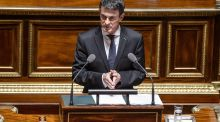 "We cannot receive more refugees in Europe,"" French prime minister Manuel Valls told journalists in Paris. Photograph: Christophe Petit Tesson/EPA"